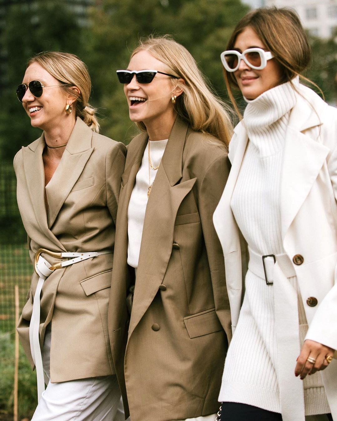 25 of the Best Neutral Fall Finds to Shop Now — Lisa Aiken, Tine Andrea, and Darja Barannik Street Style