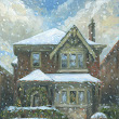 Leaside Home in Snow