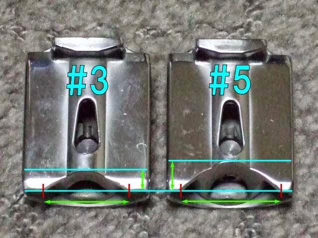 PWK28キャブレターのセッティングパーツ。 #3と#5カッタウェイ(スロットルバルブ)の比較