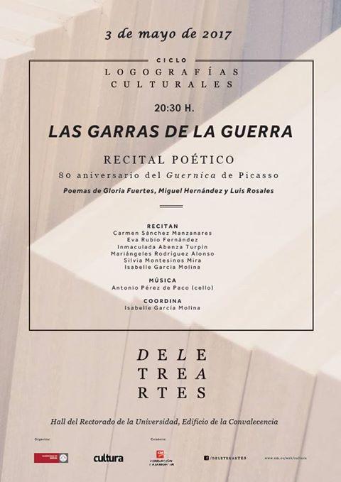 """Recital poético: """"Las garras de la guerra"""""""