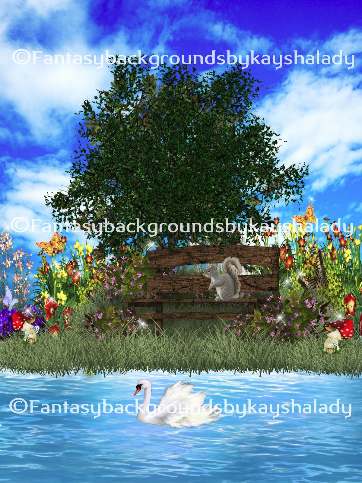 Fantasy Magical Garden Backgrounds