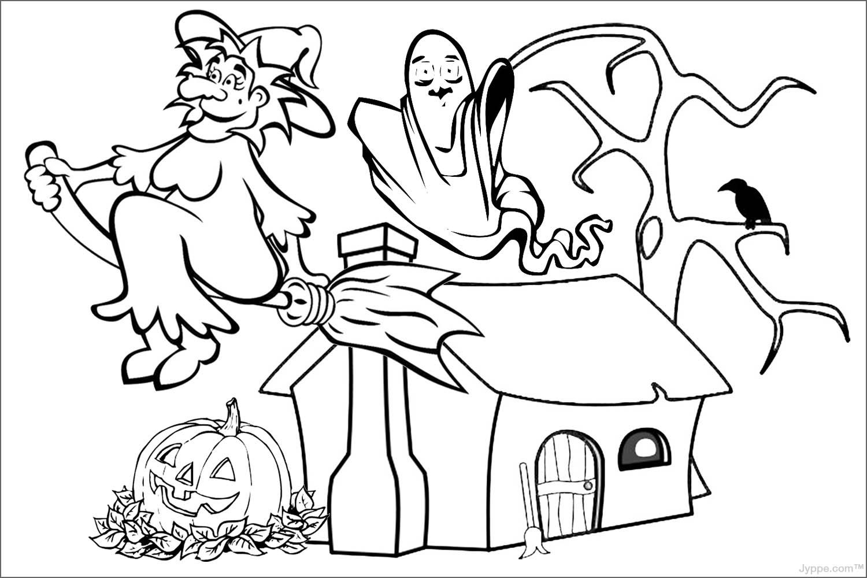 Imágenes y Gifs Animados ®: IMÁGENES DE HALLOWEEN PARA COLOREAR