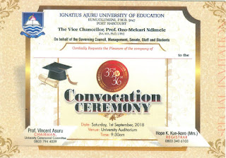 IAUE 35th & 36th Convocation Ceremony Schedule - 2018