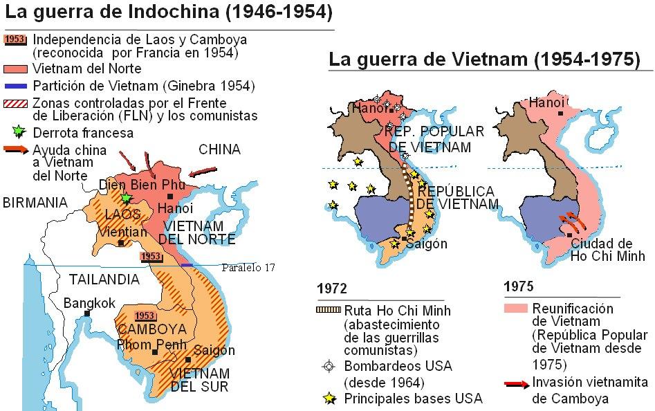 Guerra De Vietnam Mapa.Historia En Present Mapa De La Guerra D Indoxina I De La