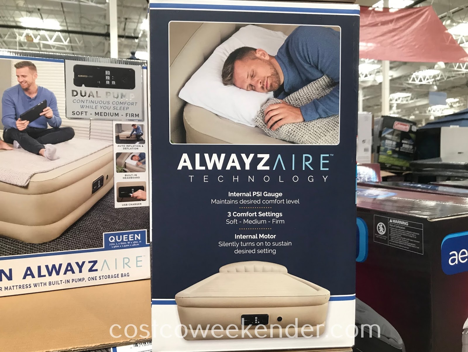 Costco 1290688 - Spring Air Queen AlwaysAire Airbed never loses air while in use ensuring a comfortable night's rest