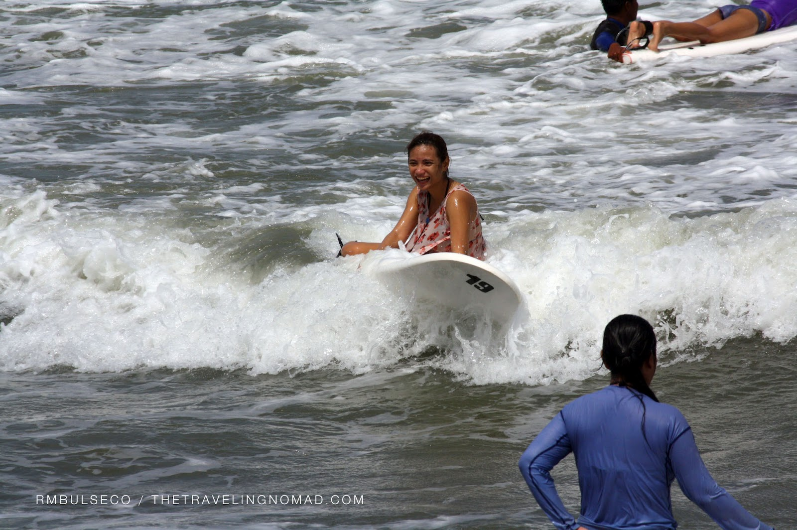 Surfing at Baler, Aurora