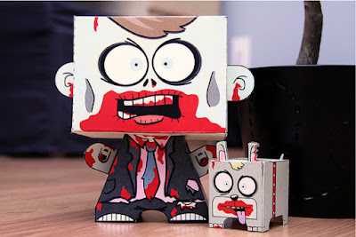 Zombie paper toys printable