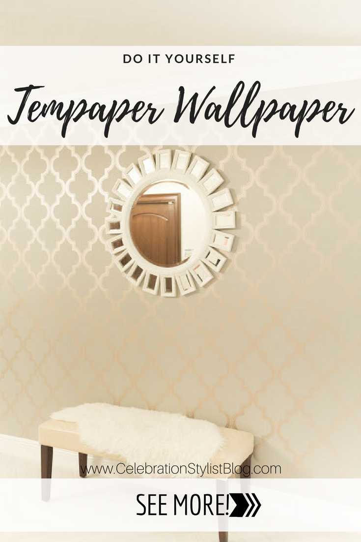 Tempaper Wallpaper Install by popular Florida blogger The Celebration Stylist