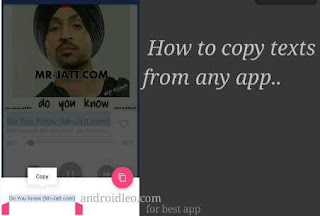 how to copy texts from apps apk