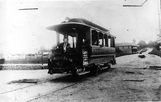 An image of Early 1900's Street Car that ran betweenFountain Heights and Avondale