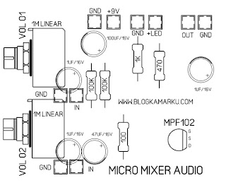 Cara membuat Mini Mixer audio Micro Komplit