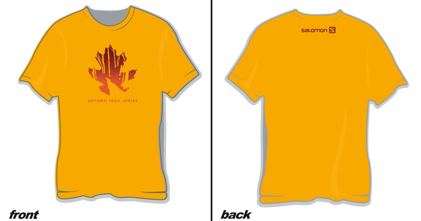Autumn Trail Series Race Shirt Design 2017