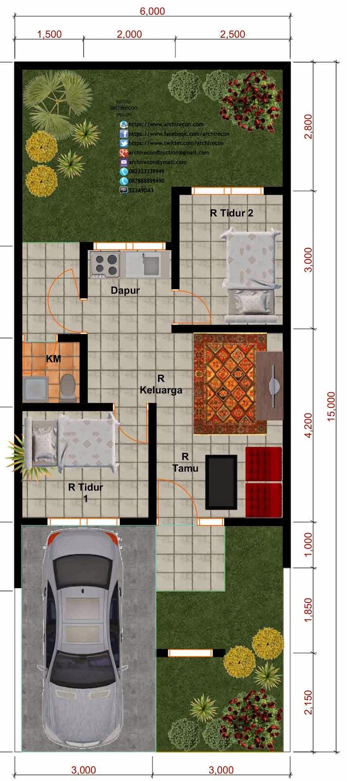 Desain Rumah Minimalis - Denah Type 36