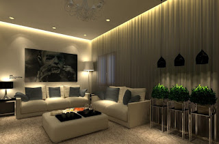 living room design ideas with ceiling light