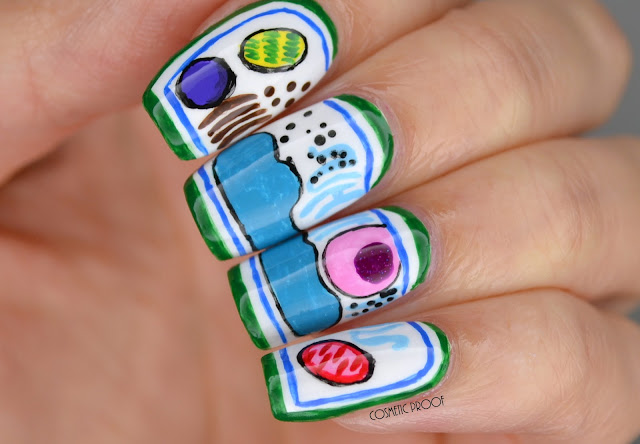 Plant cell nerdy nail art