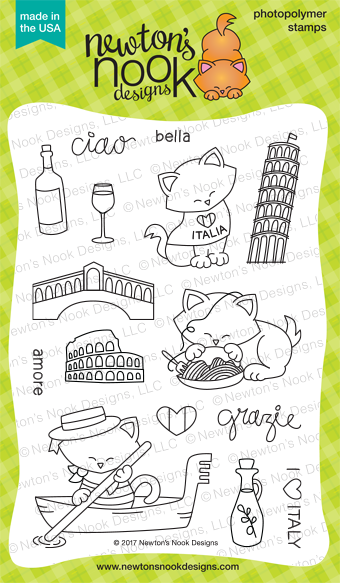 Newton Dreams of Italy Stamp Set by Newton's Nook Designs