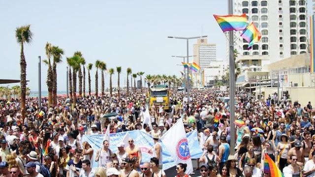 250 Ribu Pendukung LGBT Kumpul di Tel Aviv Israel