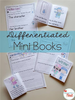 Winter differentiated reading plus a few FREEBIES- blog post highlighting hands-on activities for kids