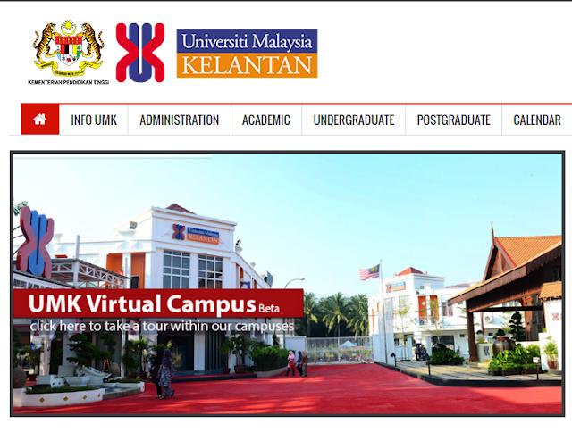 Rasmi - Jawatan Kosong (UMK) Universiti Malaysia Kelantan Terkini 2019