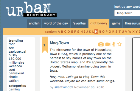 http://www.urbandictionary.com/define.php?term=Maq-Town