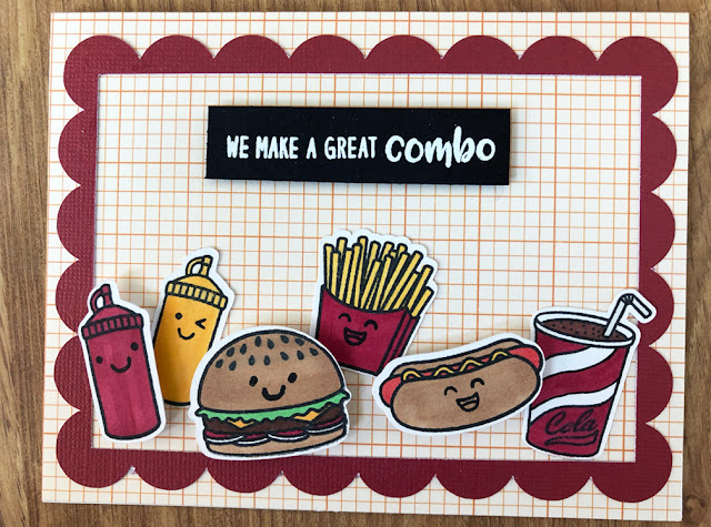 Sunny Studio Stamps: Fast Food Fun Customer Card by Ashley Hughes