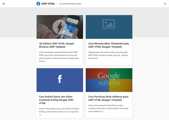 Free Blogger Template With AMP HTML