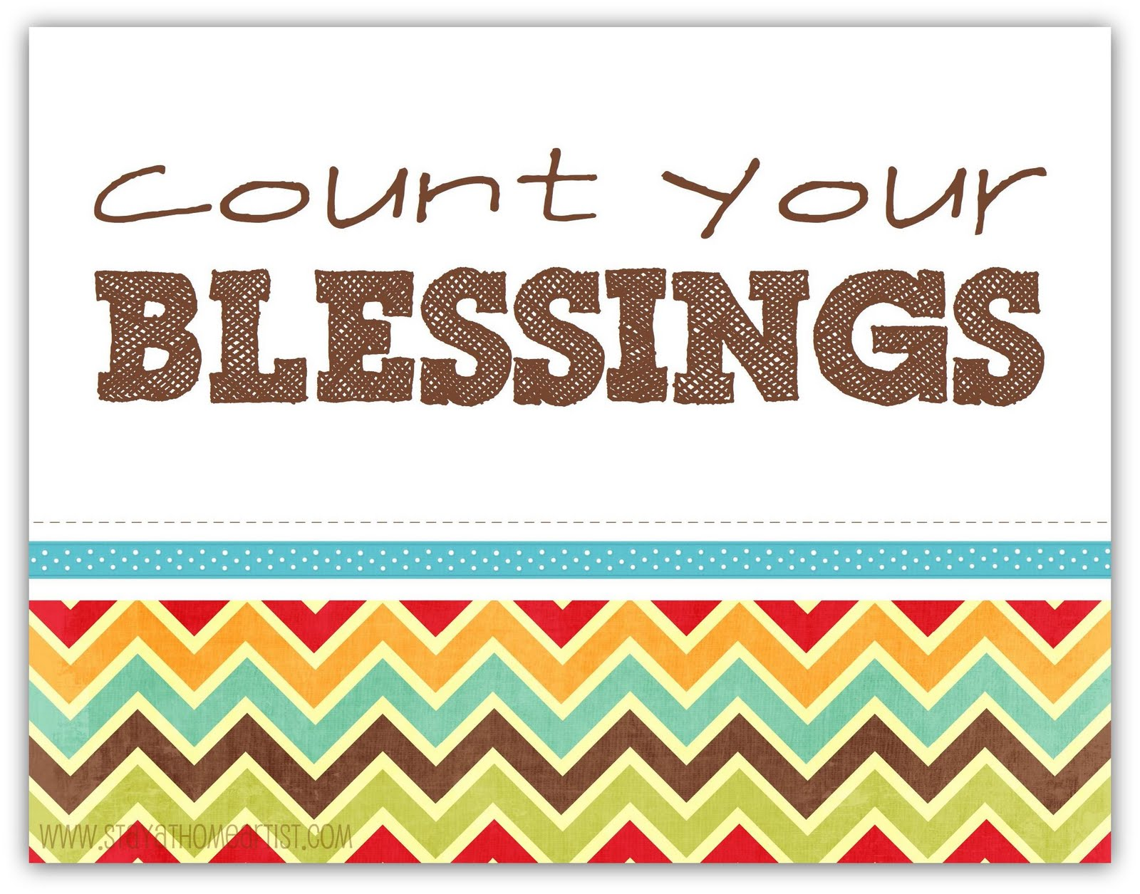 Stayathomeartist Count Your Blessings Chevron