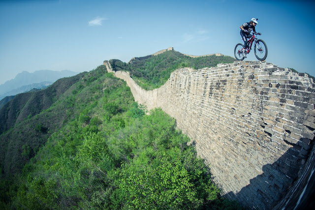 David Cachon, mountain bike en la Gran Muralla China