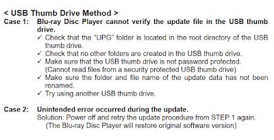 BD-S681 Blu-ray Disc firmware update