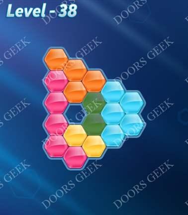 Block! Hexa Puzzle [5 Mania] Level 38 Solution, Cheats, Walkthrough for android, iphone, ipad, ipod