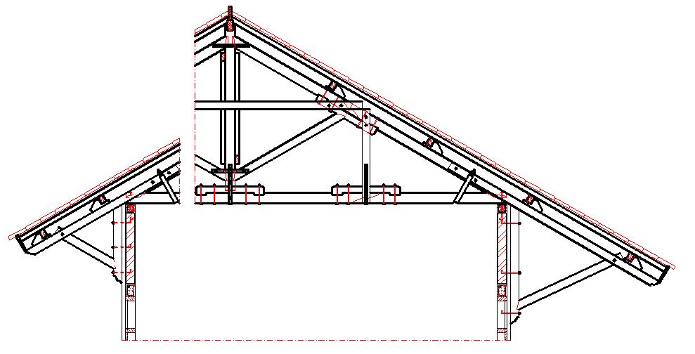 kebutuhan baja ringan untuk kuda bagian atap rangka kayu rumah tinggal sederhana