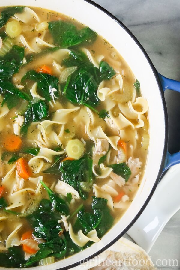 Winter Comfort Food Recipe: Homemade Chicken Noodle Soup from Girl Heart Food