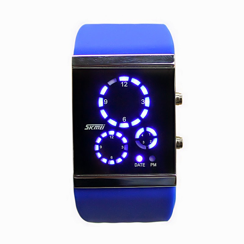 2fd3f55a647 Skmei 0984 LED Saving Energy Watch vidro temperado Data Relógio de pulso  para esportes - Loja online cabanascuba