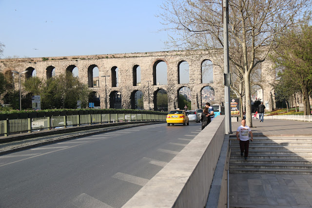 Historical wall within Sultanahmet square in Istanbul, Turkey