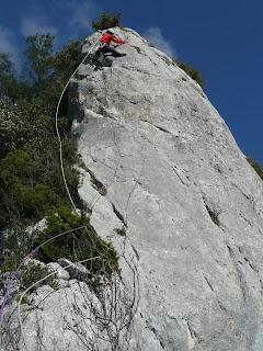 Escalada, Izarraitz montaña, Escaladas en Egino