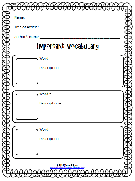 Wild about fifth grade close reading opinion writing for Close reading planning template