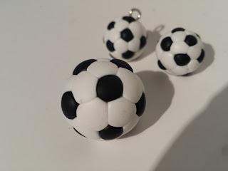 pallone calcio fimo alberta bijoux