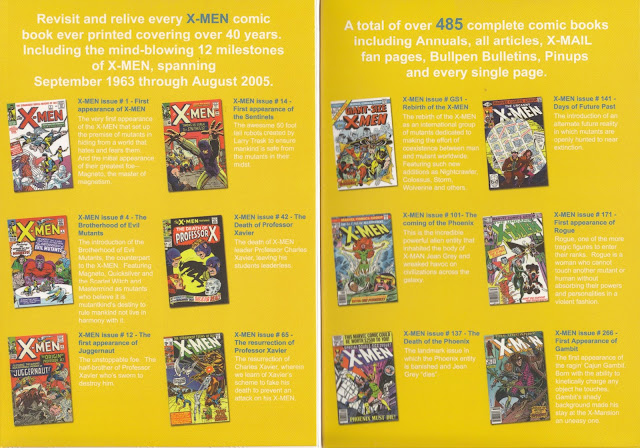 Inside Cover for 40 Years of X-MEN by Marvel, DVD-ROM by GIT, Corp.
