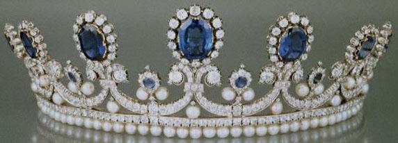 Queen Marie Amelie France Sapphire Pearl Diamond Tiara Bapst