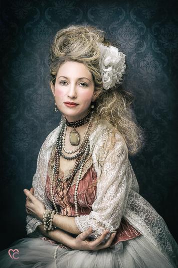 Fotografia di ritratto, Maria Antonietta, regina, retroreal, vintage, Mari Crea photographer