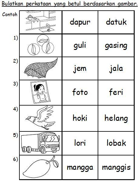 Soalan Bahasa Melayu Tadika 6 Tahun Selangor R