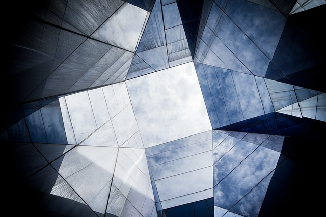 angles of glass buildings