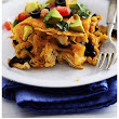 Loaded Stacked Chicken Enchilada Casserole