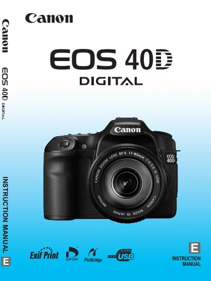 canon camera news 2018 canon eos 40d pdf user guide manual downloads rh canoncameranews capetown info Photos Taken with a Canon 85Mm F 1.8 Lens canon 40d user manual