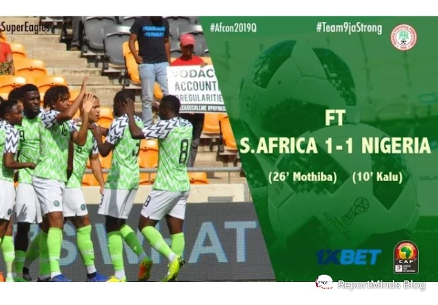 2018 Afcon Qualifiers: South Africa 1 vs 1 Nigeria (Highlights Download)