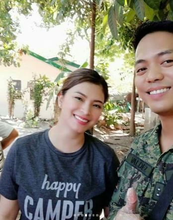 Angel Locsin Undergoes A Training At The Army General Hospital