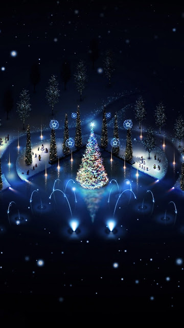 Blue Christmas Tree merry christmas 2016 Wallpapers