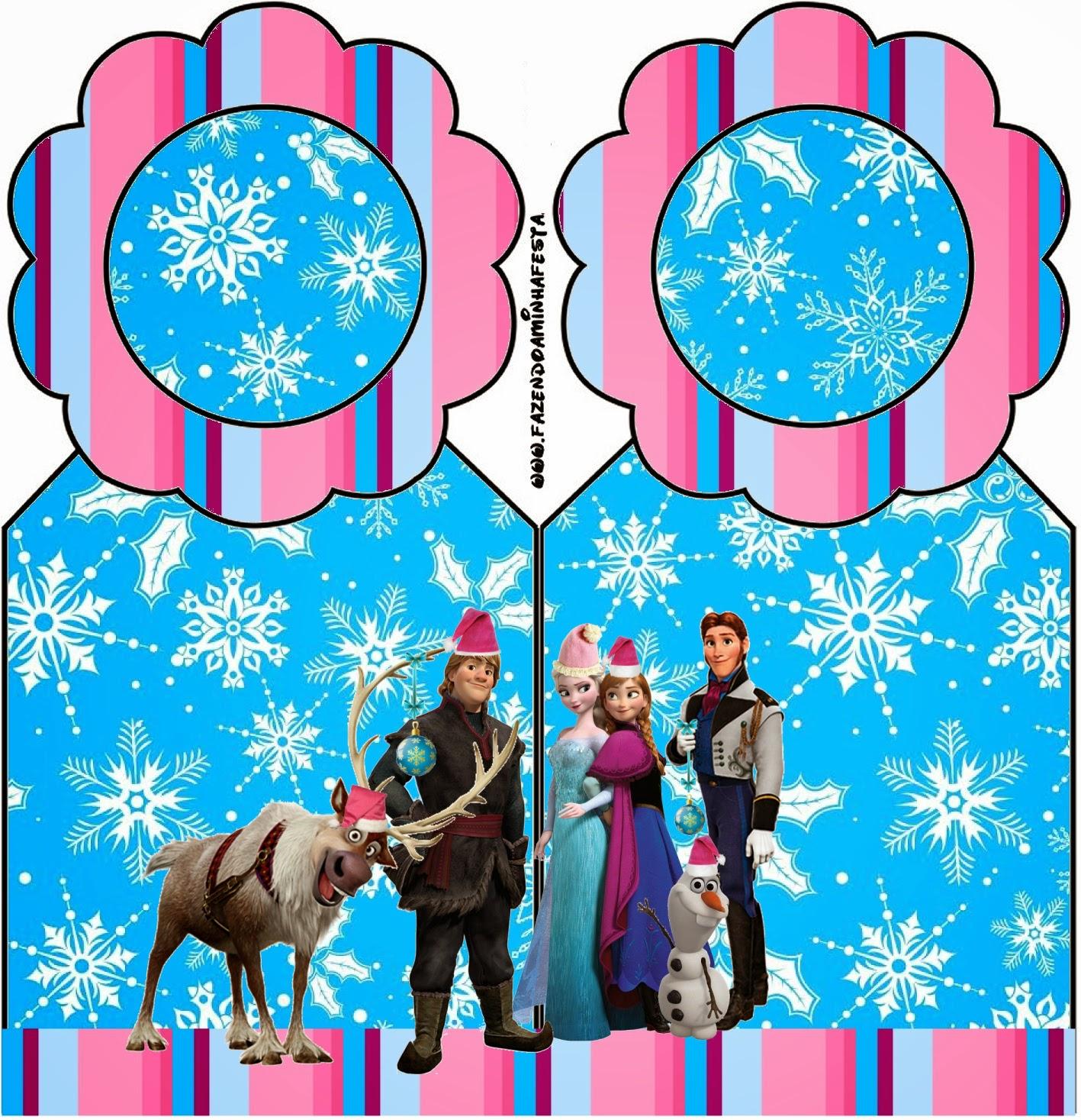 Para Marcapaginas para imprimir gratis de Frozen para Navidad.