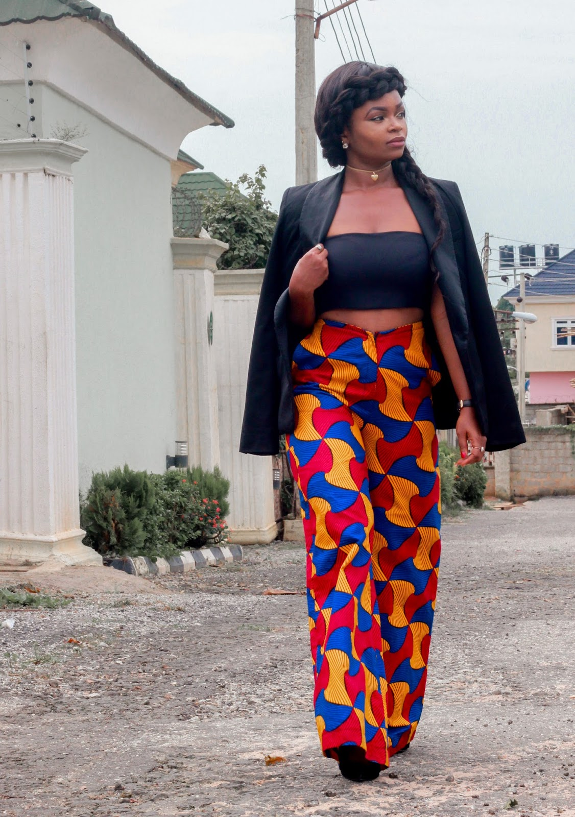 ANKARA FLARED PANTS