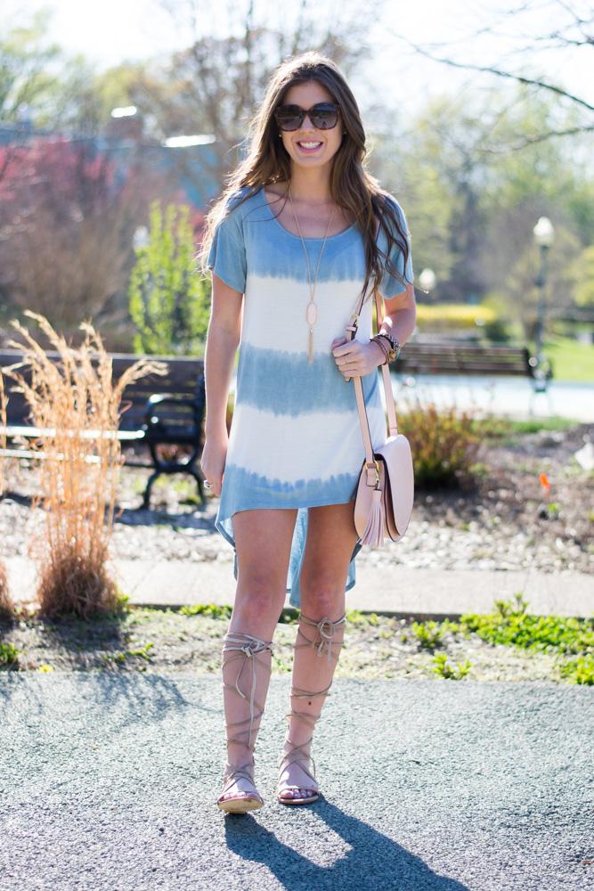 Tie dye dress